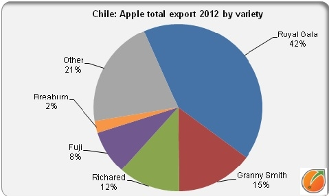 Export Chilean apples by variery