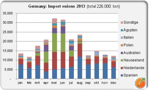 Germany: Import onions 2013