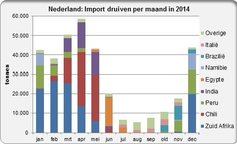 Grapes import Netherlands