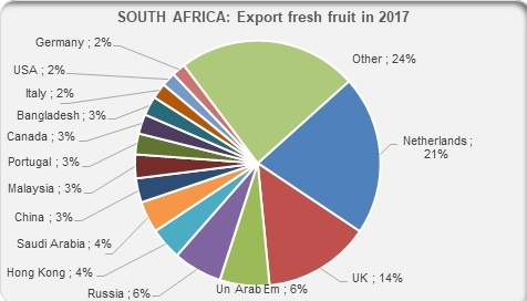 South Africa export fresh fruit in 2017