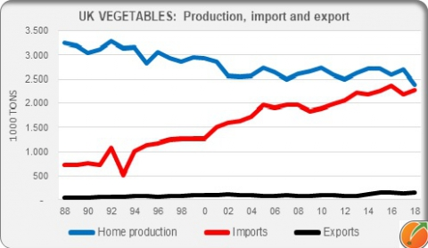 Fresh vegetables United Kingdom