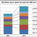 Apple export by region